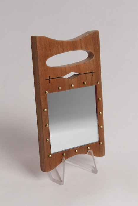 Cherry Wood Mini Mirror Board by Dennis Esquivel