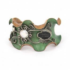 """""""Try the Tribolites"""" Cuff by Liz Wallace"""