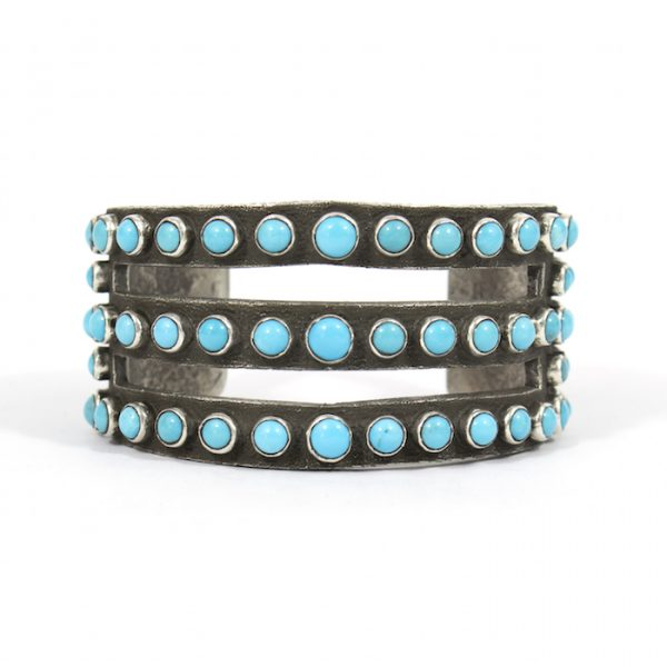 Silver and Turquoise Bracelet by Ernest Rangel