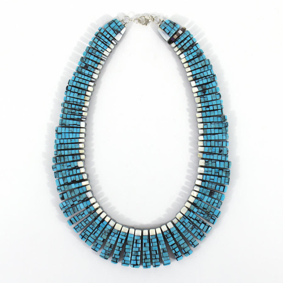 Reversible Mosaic Necklace by Charlene Reano