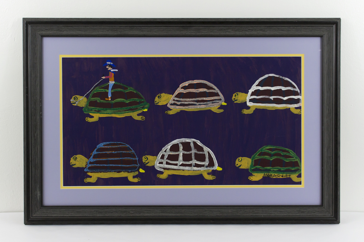 """Glittering Turtles"" by Mamie Deschillie"