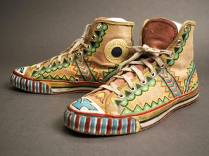 1960s Converse painted with Native American designs