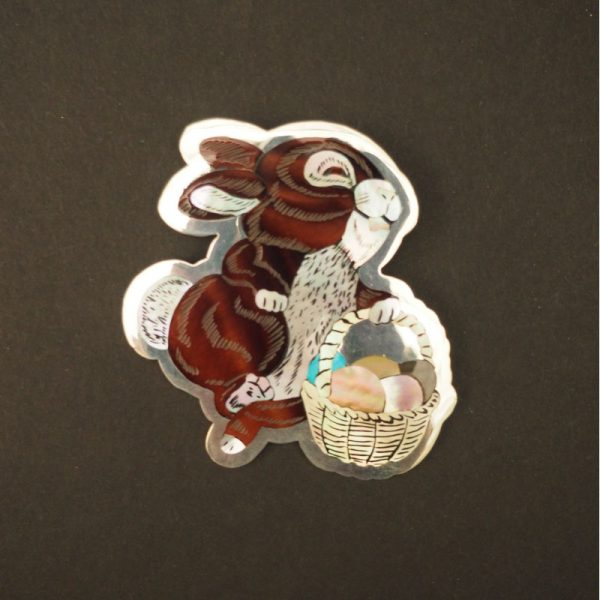 Inlay Easter Bunny Pin