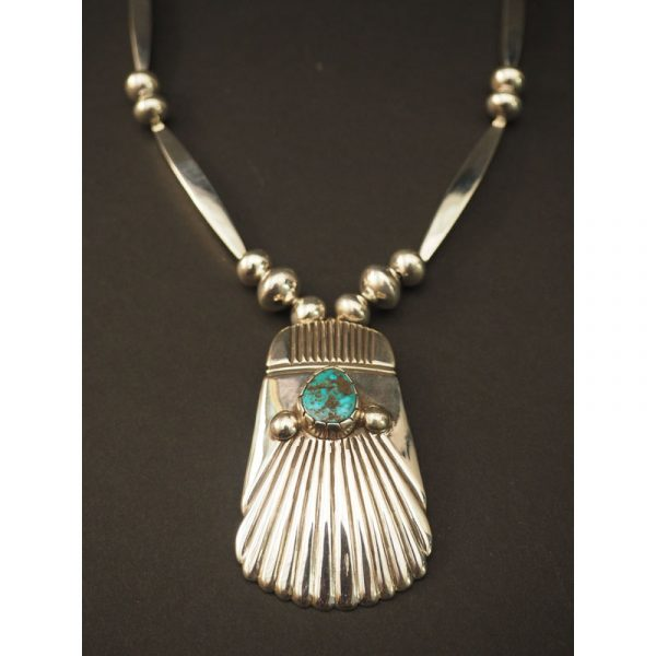Cippy Crazyhorse Necklace with Turquoise Stone