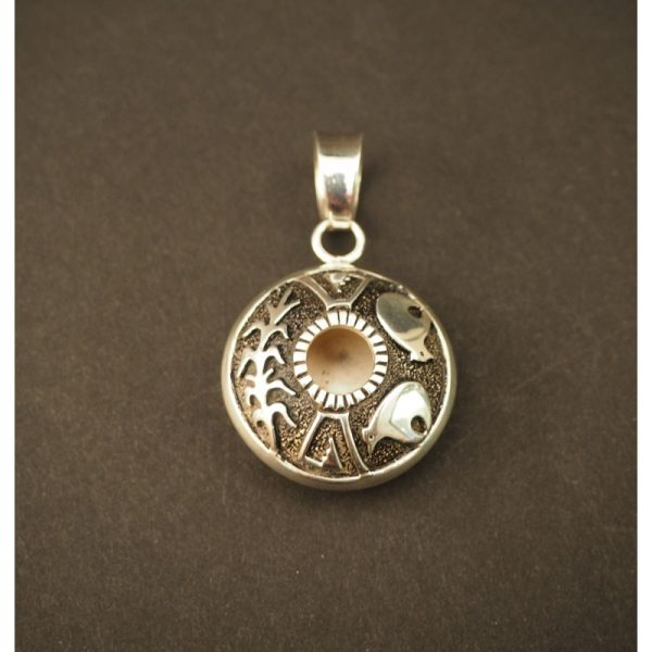 Silver Seed Pot Pendent