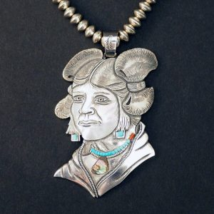 """Hopi Mana (Maiden)"" Necklace by Roy Talahaftewa (Detail)"