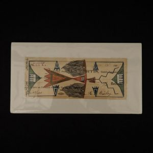 """Flying Low"" Ledger Art by Jared Sun Rhodes"