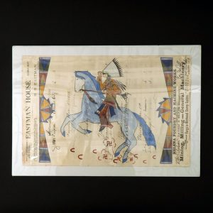 """Like a Whirlwind"" Ledger Art by Jared Sun Rhodes"
