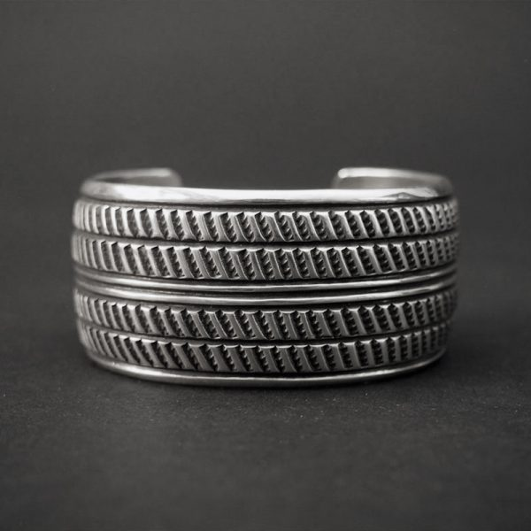 """""""Radial Tire"""" Silver Bracelet by Cippy Crazy Horse"""