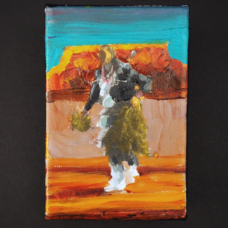 Male Pueblo Dancer by Mateo Romero