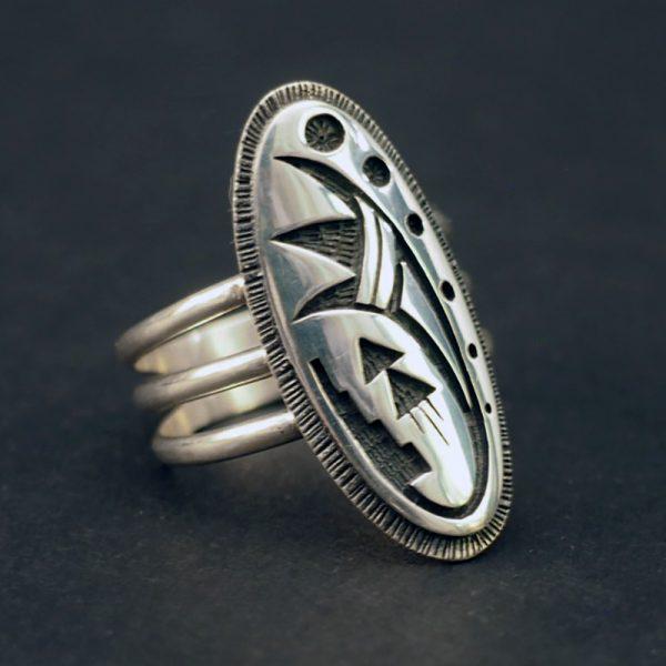 Hopi Overlay Ring by Cordell Sakeva