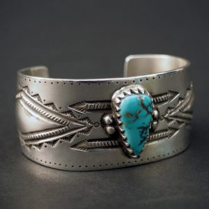 Royston Turquoise Cuff Bracelet by Arland Ben