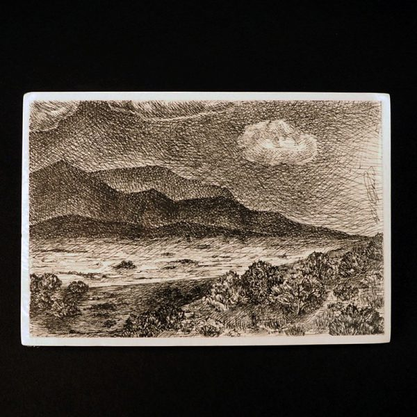 """""""Hills & Clouds"""" Drawing by Alex Pena"""