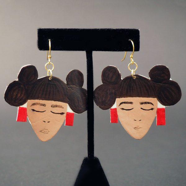 Hopi Maiden Earrings by Alicia Nequatewa