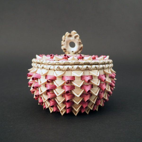 Traditional Penobscot Black Ash Lidded Basket