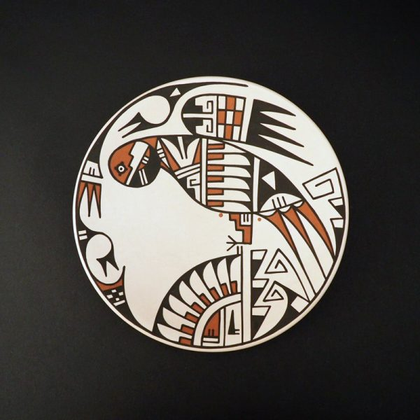 Two Sided Polychrome Plate by Erik Fender