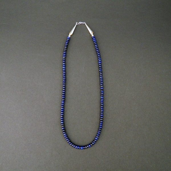 Handmade Lapis Bead Necklace by Raynard Lalo