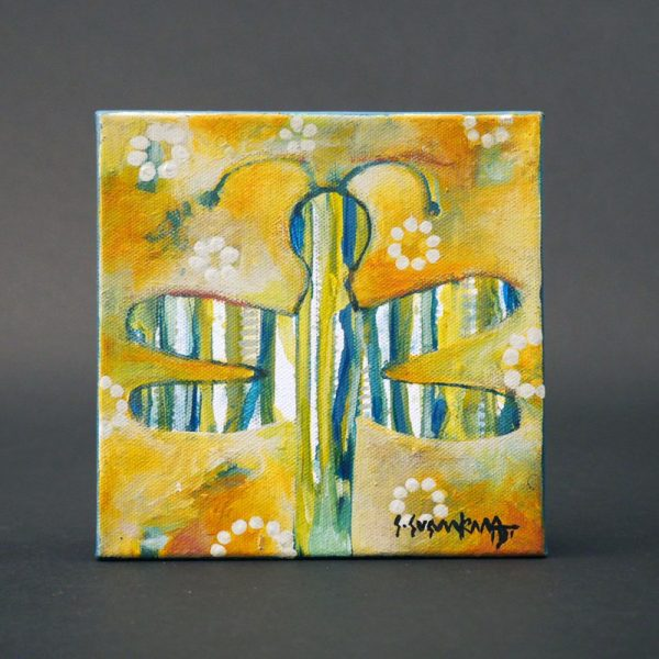 """Dragonfly"" Painting on Stretched Canvass by Sheryl Susunkewa"