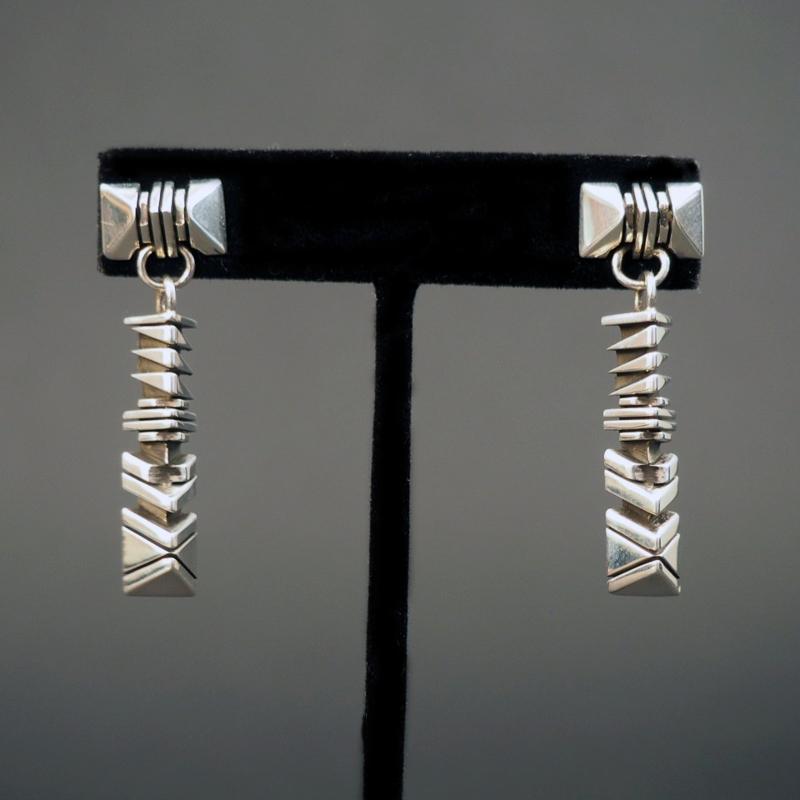 Geometric Dangle Earrings by Isaiah Ortiz