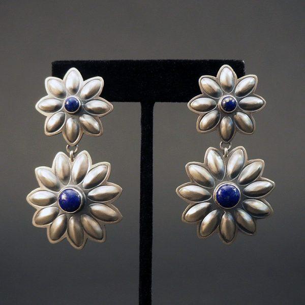 Double Sunflower Earrings by Robert Johnson