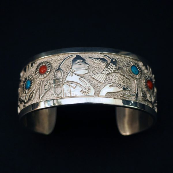 Silver Bracelet by Philbert Begay