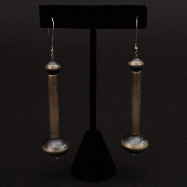 Oxidized Beads & Tubes Earrings by Ben Haley