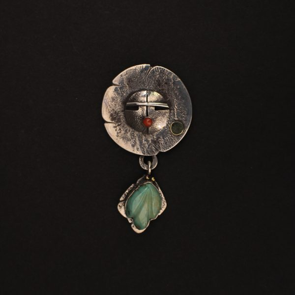 """Sun and Sage"" Pin/Pendant by Jolene Eustace"