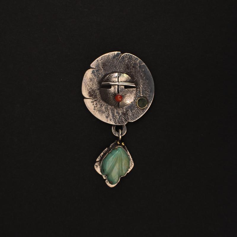 """Sun and Sage"" Pin/Pendant by Jolene Eustace"