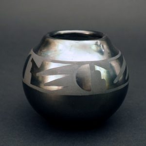 Black ware Jar by Adam and Santana Martinez