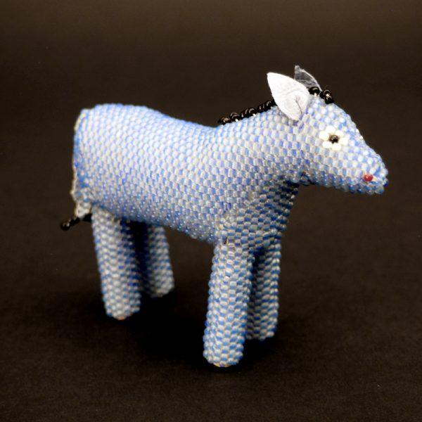 Zuni Beaded Blue Horse