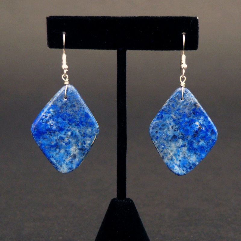 Natural Lapis Lazuli Earrings by Ray Lovato