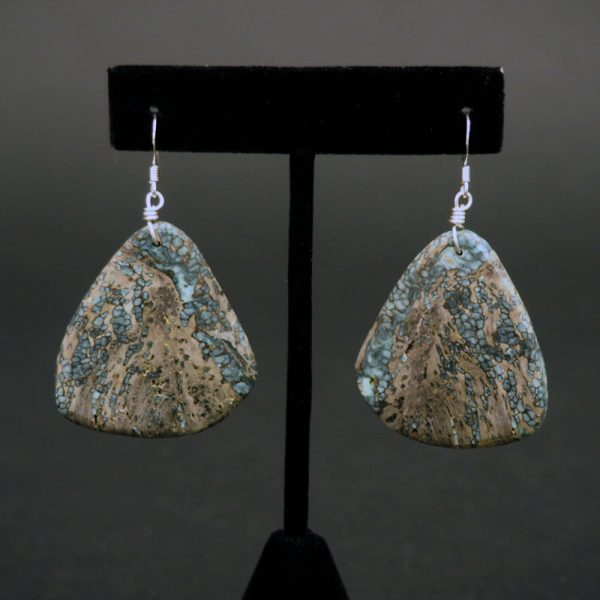 Natural Damale Turquoise Earrings by Ray Lovato