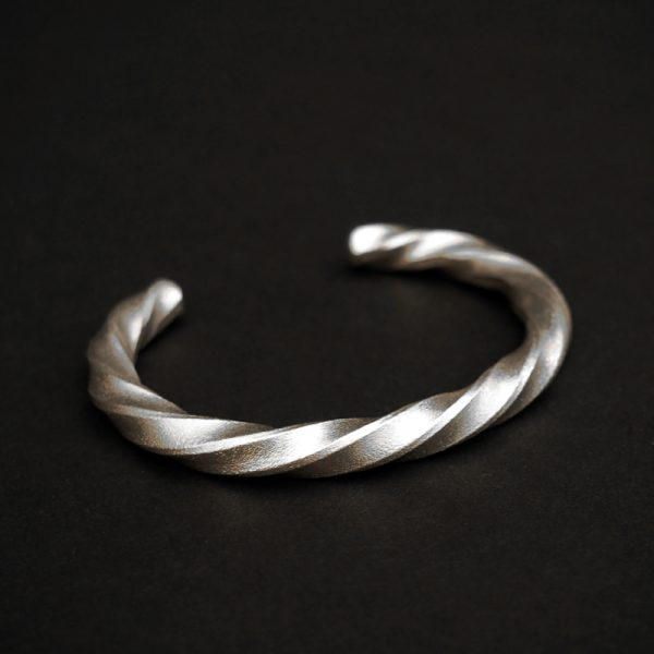 Twisted Silver Bracelet by Chris Pruitt