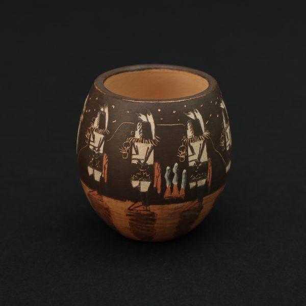 Miniature Bowl with Ye'ii Bicheii Night Scene
