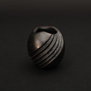 Mini Blackware Swirl Jar