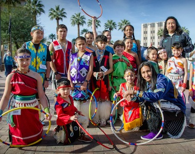 Pueblo of Pojoaque Youth Hoop Dancers