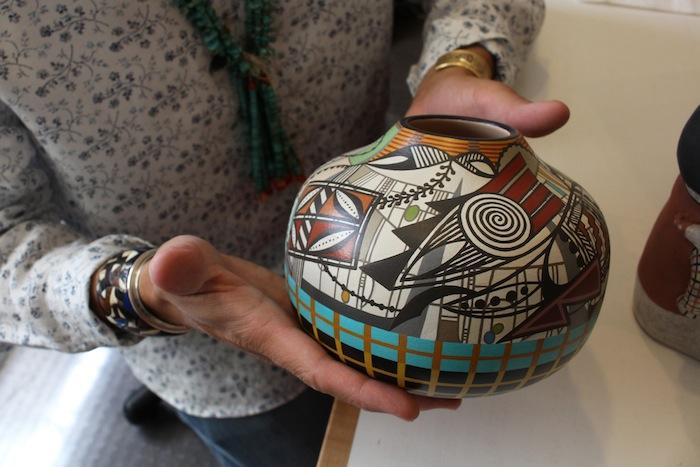 "A very unique piece by Les Namingha, ""Acoma Nouveua"""