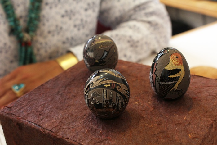 Collaboration seed pots by Emily Tafoya and Jennifer Moquino