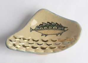 Painted Dish with a Fish by Littlebird
