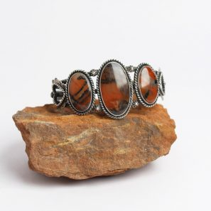 Photo of Petrified Wood Silver Bracelet